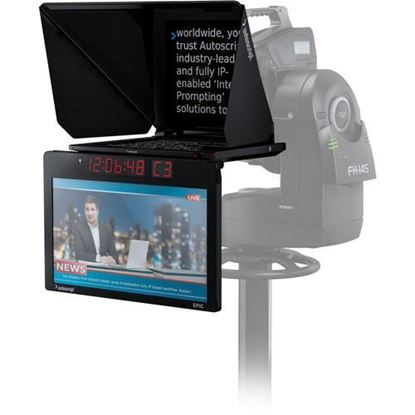 """Picture of Autoscript EPIC-IP on-camera package with 19"""" prompt monitor and integrated 24"""" talent monitor"""
