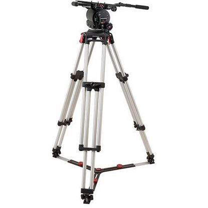 Picture of OConnor 120EX head & Cine Mitchell tripod with floor spreader