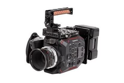 """Picture of Wooden Camera  NATO Handle Plus V2 Kit (NATO ARRI 70mm Rail, 1.67"""" Screw Channel)"""