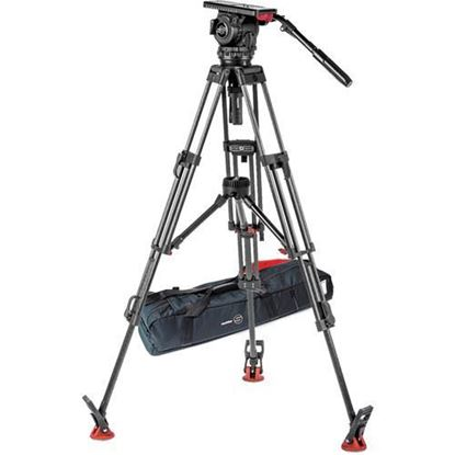 Picture of Sachtler Video 18 S2 Fluid Head & ENG 2 CF Tripod System with Mid-Level Spreader