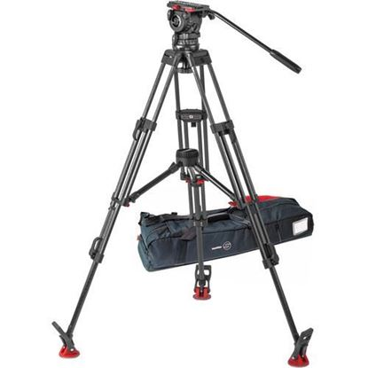 Picture of Sachtler FSB 10 ENG 2 MCF Carbon Fiber Tripod System with Sideload Plate (100mm)