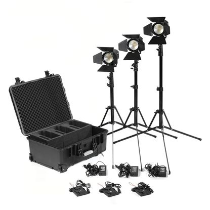 Picture of Kinotehnik Practilite 602 LED Bi-Color Fresnel 3-Light Kit