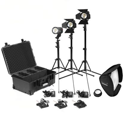 Picture of Kinotehnik Practilite 602 / 600 LED Bi-Color Fresnel 3-Light Kit