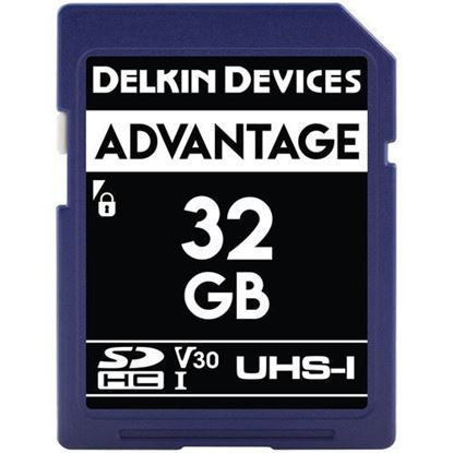 Picture of Delkin Devices 32GB Advantage UHS-I SDHC Memory Card