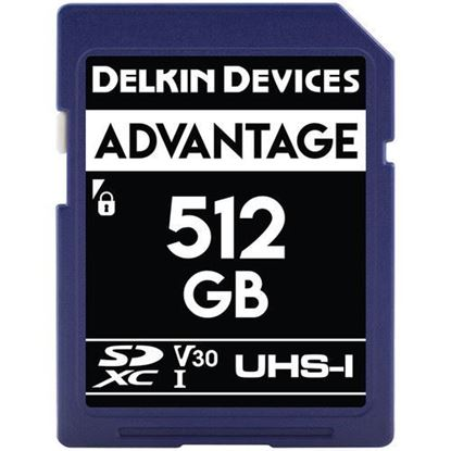 Picture of Delkin Devices 512GB Advantage UHS-I SDXC Memory Card