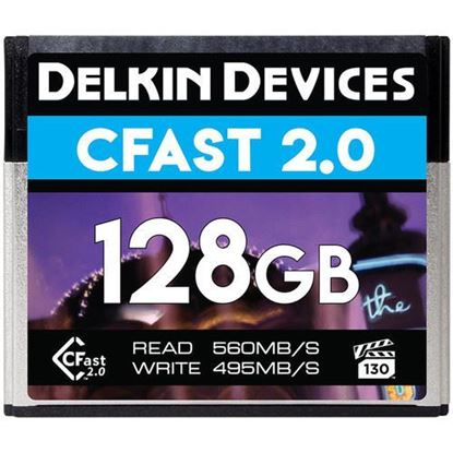 Picture of Delkin Devices 128GB Premium CFast 2.0 Memory Card