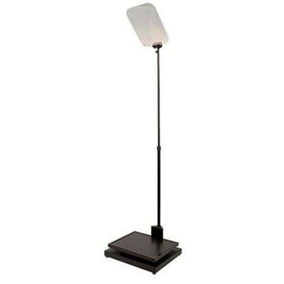 """Picture of Autocue/QTV Manual Conference Stand with Glass & Master Series 17"""" SDI Monitor"""